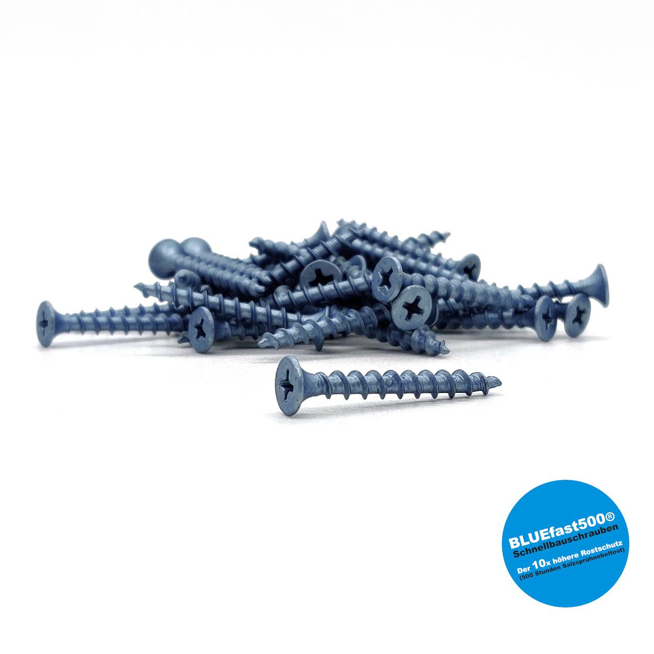 BLUEfast500® Schnellbauschrauben | Grobgewinde | 3,9x35 | 1.000 Stk