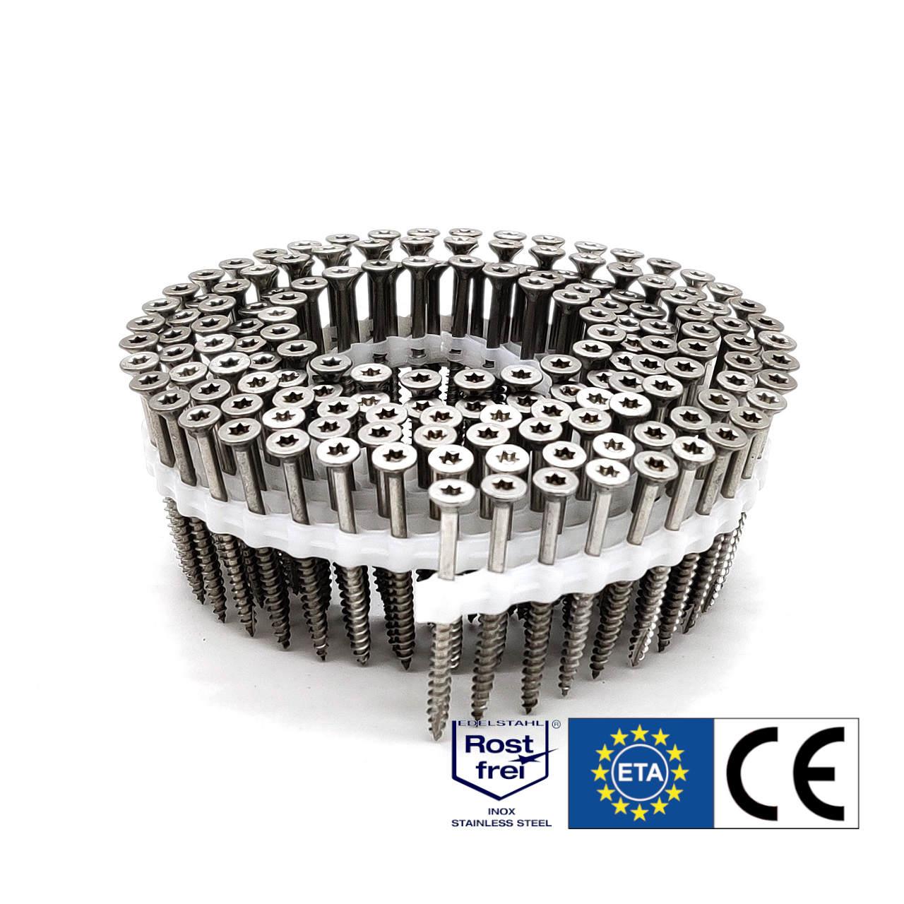 Coil Universalschrauben | rostfrei A2 | Teilgewinde | 4,0x40 | 2.000 Stk