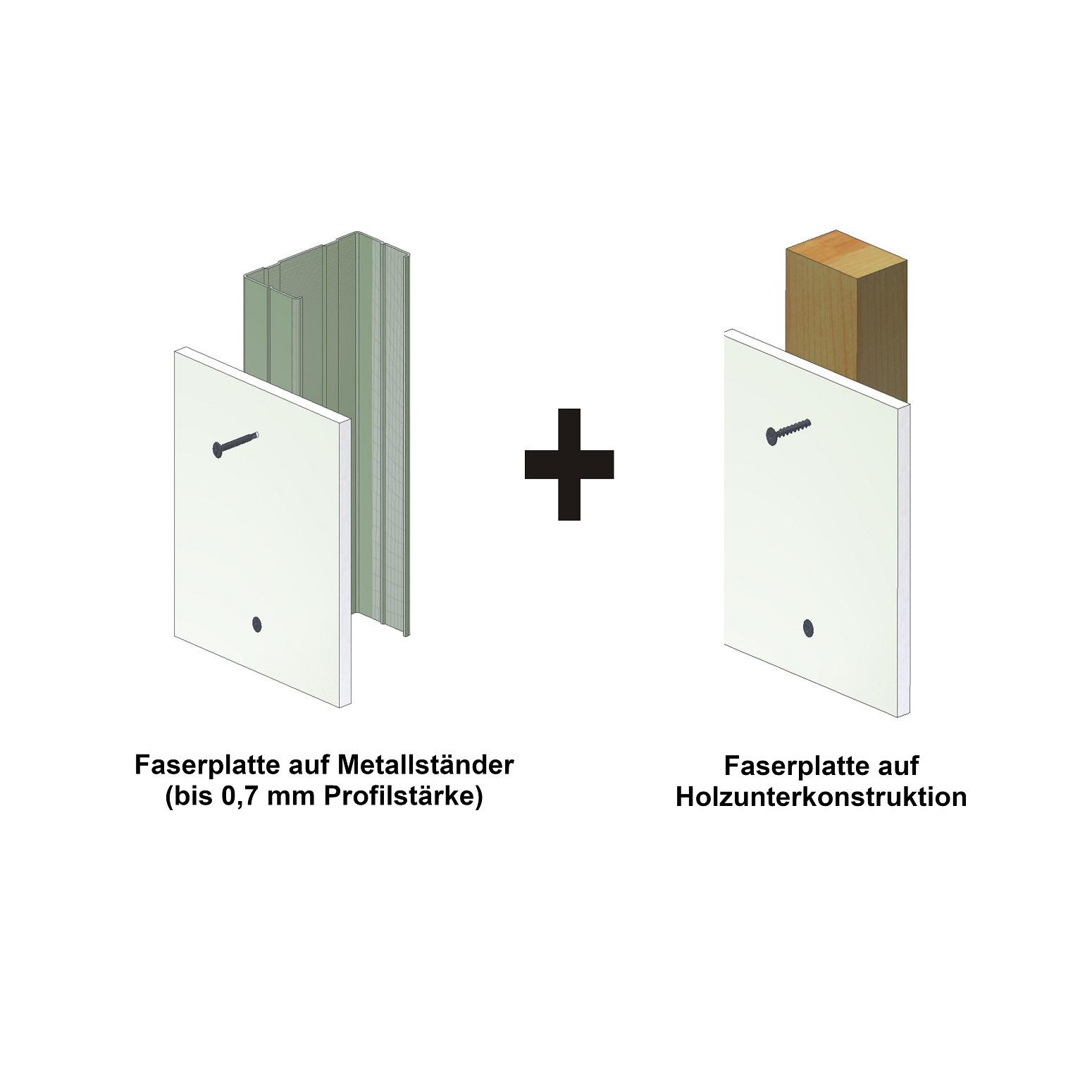 Magazinierte Faserplattenschrauben | phosphatiert | Hi-Lo-Gewinde | 500 Stk | 3,9x19
