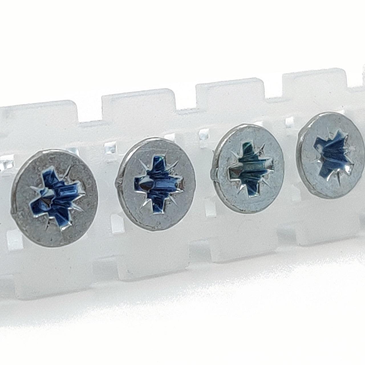 Magazinierte Spanplattenschrauben | hell verzinkt | PZ2 | 4,0x25 | 1.000 Stk