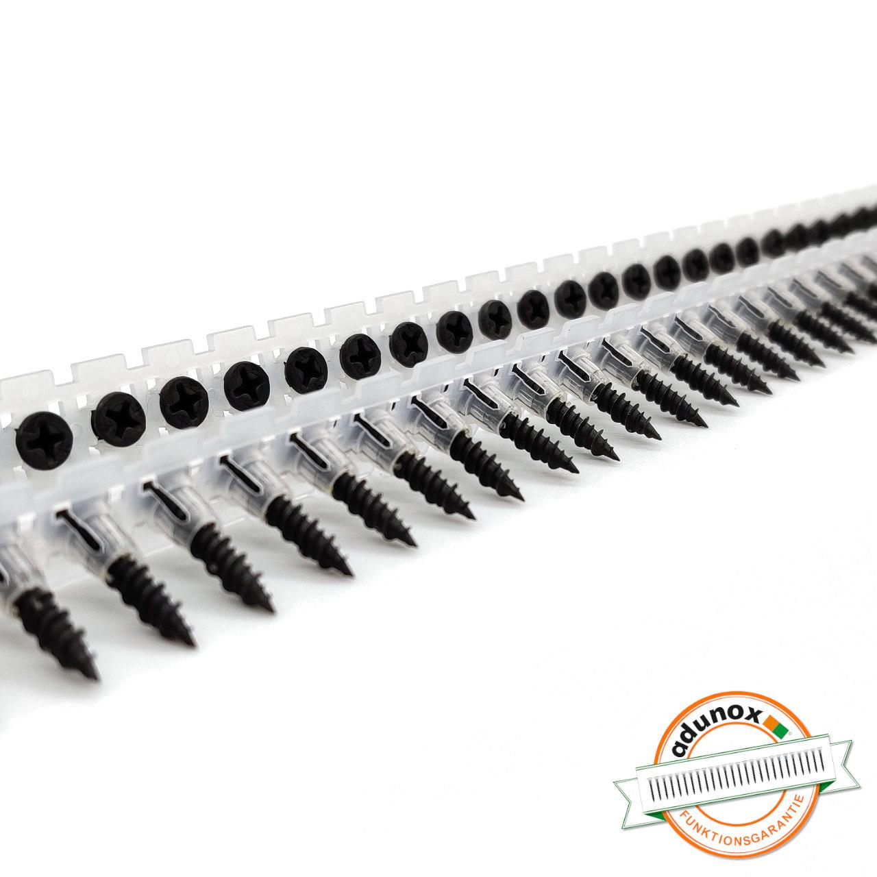 Magazinierte Faserplattenschrauben | phosphatiert | Hi-Lo-Gewinde | 3,9x22 | 1.000 Stk