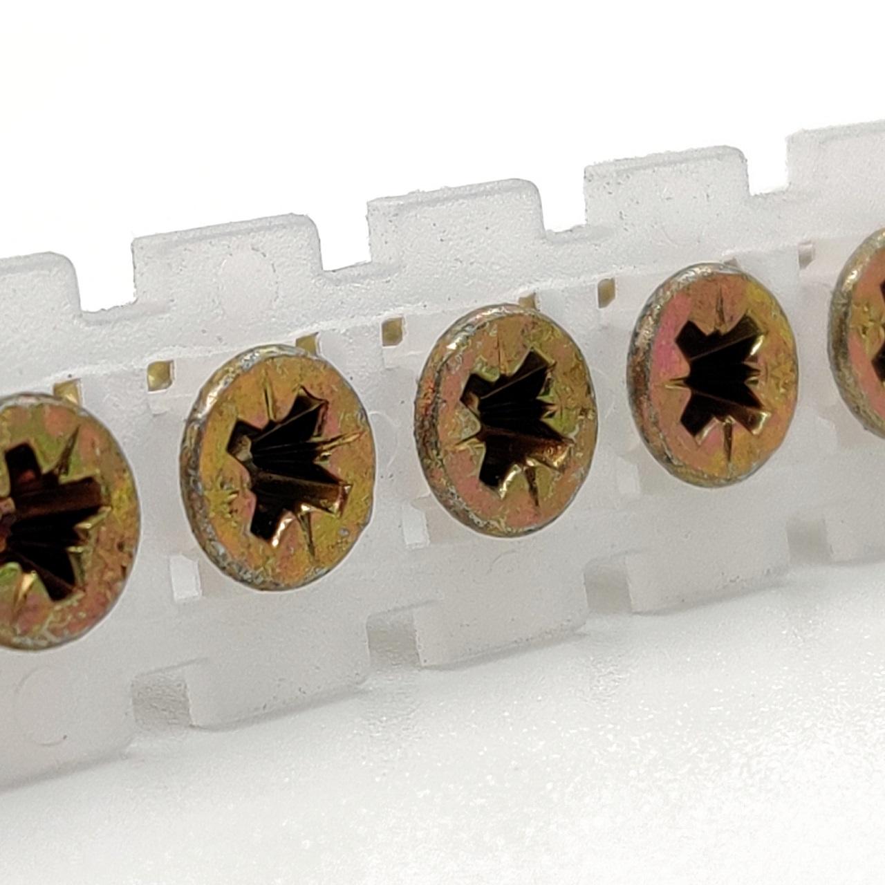 Magazinierte Spanplattenschrauben | gelb verzinkt | PZ2 | 4,0x55 | 800 Stk