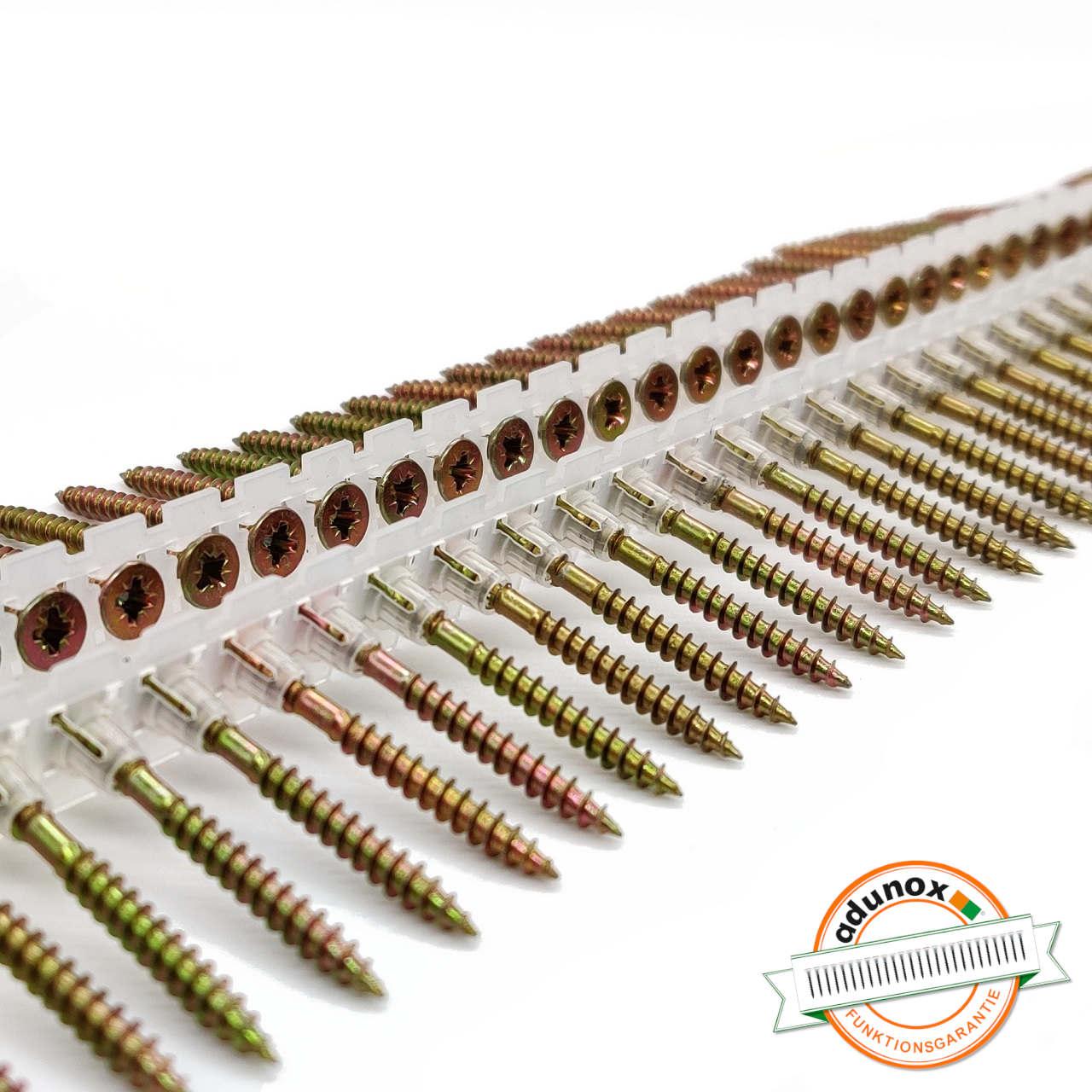 Magazinierte Universal Holzschrauben / Spanplattenschrauben | gelb verzinkt | Teilgewinde | 4,0x50 | 1.000 Stk
