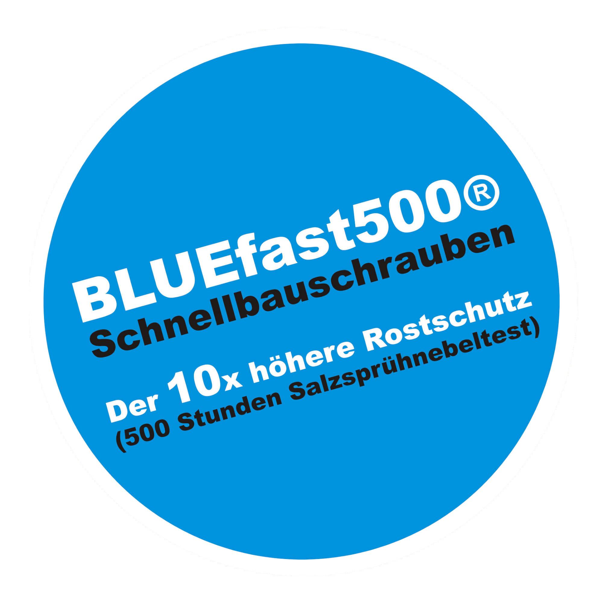 BLUEfast500® Faserplattenschrauben | Hi-Lo-Gewinde | 3,9x19 | 1.000 Stk
